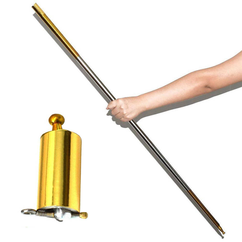 110 cm Length Appearing Cane Silver Cudgel Metal Magic Tricks for Professional Magician Stage Street Close up Illusion
