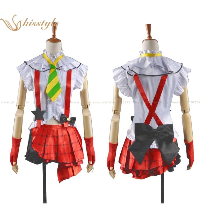 Home School Idol Project Rin Hoshizora Stage Wear Uniform Cosplay Costume,customized Accepted Aspiring Kisstyle Fashion Love Live