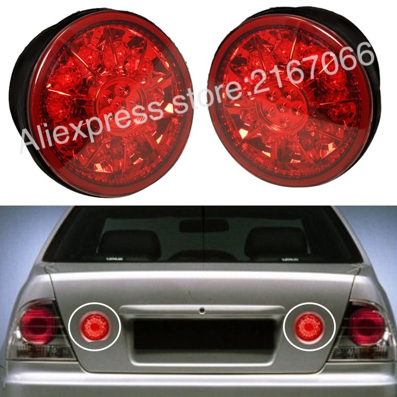 Задние фонари магистрали светодио дный пара подходит TOYOTA ALTEZZA подходит LEXUS IS200 IS300 1998 2005 задние фонари комплект правой + левый красный