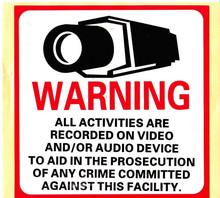30pcs/lot Decal Sticker Warning CCTV All Activities Monitored By Video Camera 8″ x 8″ Home CCTV Security Camera Decal Signs