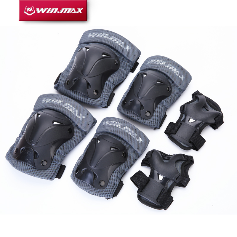 2016 WINMAX 6pcs/1 Set Sports Safety Set Knee Pads Elbow Pads Wrist Protector Protection for Scooter Cycling Roller Skating