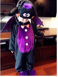 Cartoon Baby Infant Romper Kids Onesie Suit Animal Cosplay Bat Shapes Costume Child autumn winter Clothing