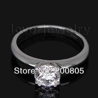 Stałe Platyny PT900 WU090 0.30Ct Diament Wedding Band Pierścień