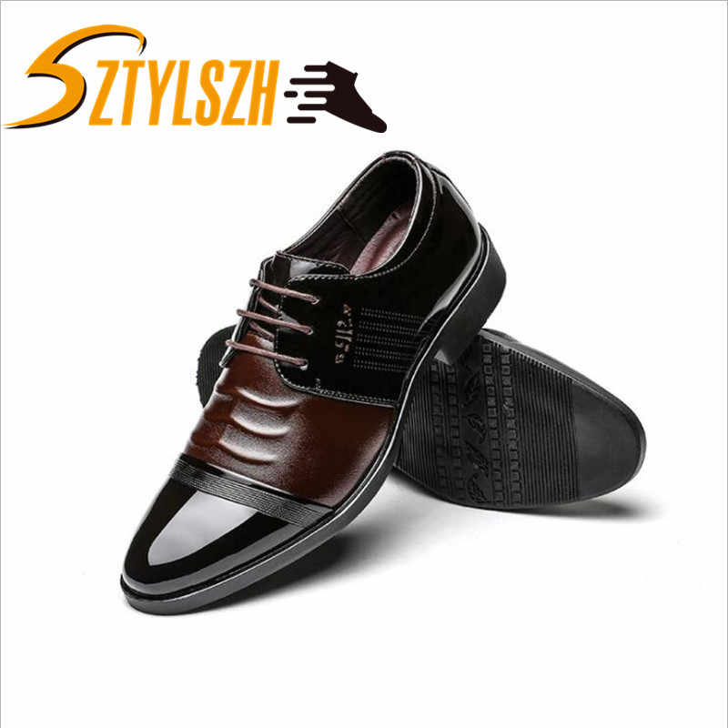 Dress Male Shoes Adult Luxury Leather Shoes Men Business Formal Office Shoes Mocassin Casual Men Flats Sapato Masculino 38-44