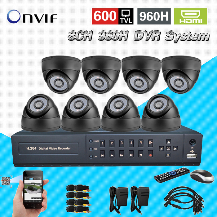 TEATE 8CH960H CCTV DVR NVR recording Surveillance Video System Night Day dome Security font b Camera