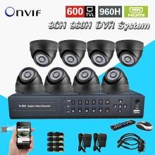 TEATE 8CH960H CCTV DVR Sistema de Vigilância de Vídeo de gravação NVR Dia Noite dome Câmera de Segurança DIY Sistemas de vídeo 8 canal CK-248