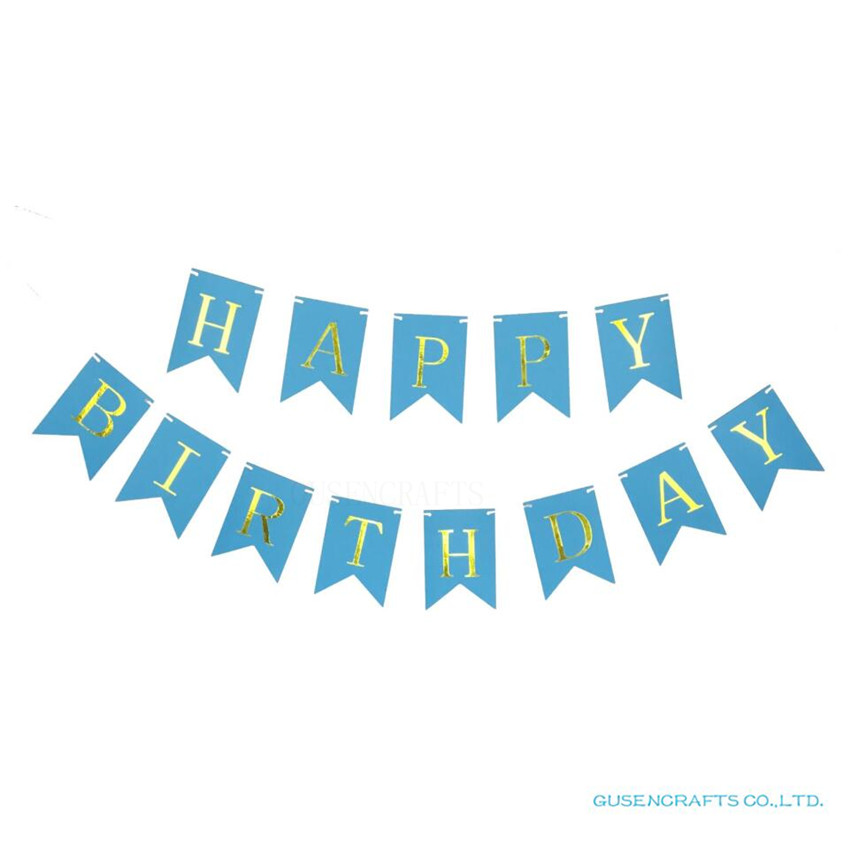 Glitter Happy Birthday Letter Bunting Banner Gold Letters ...