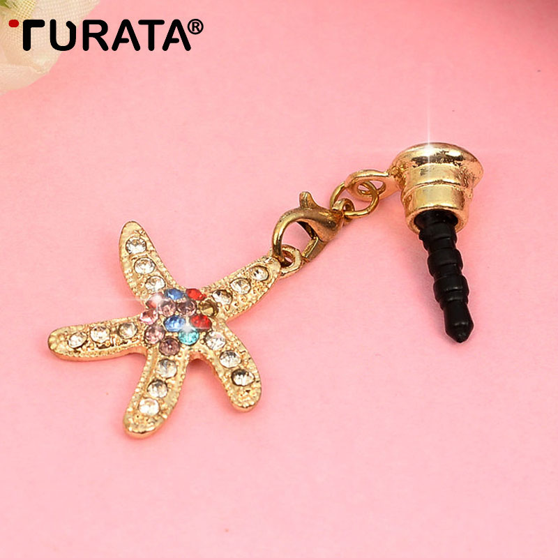 TURATA Sea Star Universal 3.5mm Jack Headphone Port Dust Plug Phone Accessories For Samsung iPhone Smartphone Anti Dust Plug