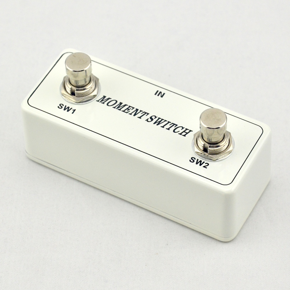 NEW Two Button Momentary Remote  white Footswitch Pedal - Electric Guitar Foot Switch