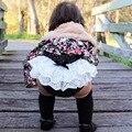 Lindo Recién Nacido Bebés de La Torta del Cordón del Algodón Infantiles Del Niño Del Pañal Del Bebé Pp Pantalones Cortos Del Harem Bloomers Linterna Pijamas 0-24meses