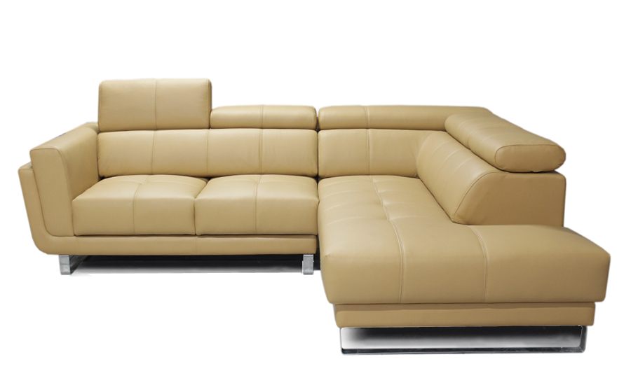 Free Shipping Classic Coffee Color Top Grain Leather Sofa, L shaped ...