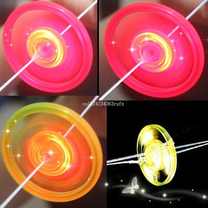 Sinnvoll 1000 Stücke Led Glühende Hand Pull Pfeife Schwungrad Kinder Spielzeug Kunststoff Blinkende Licht Lustige Spielzeug Seil Ziehen Fliegen Geschenke Party Liefert