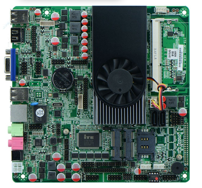 Onboard CPU i5-3317U Mini Itx industrial Motherboard All In One motherboards 6*COM 1*LAN все цены
