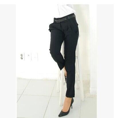 Image 5 - New Fashion Spring Summer Autumn Women Pants High Waist Casual  Pants Ladies Elegant Silm Plus Size Pants Womenpants classicpants  nylonpant pants
