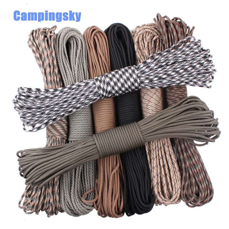 CAMPINGSKY Paracord 550 Parachute Rope 7 Core Strand 100FT Paracord For Camping