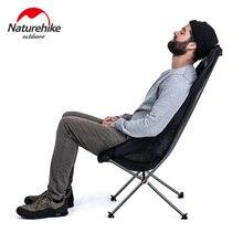 Naturehike уличное кресло с спинкой, компактное, для пикника, лагеря, складные стулья с Луной, светильник, для рыбалки, пляжа, складное, для кемпинга, с высокой спинкой, стул