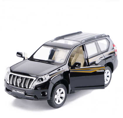 High simulation 1:32 Toyota 2016 Prado Off-Road SUV Alloy Car Model With Pull Back Sound Light For Boy Gifts Free Shipping