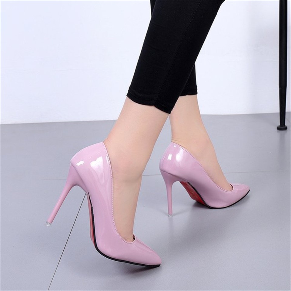 2019 summer and autumn fashion women 39 s pumps shoes pointed toe high heeled shallow women 39 s shoes in Women 39 s Pumps from Shoes