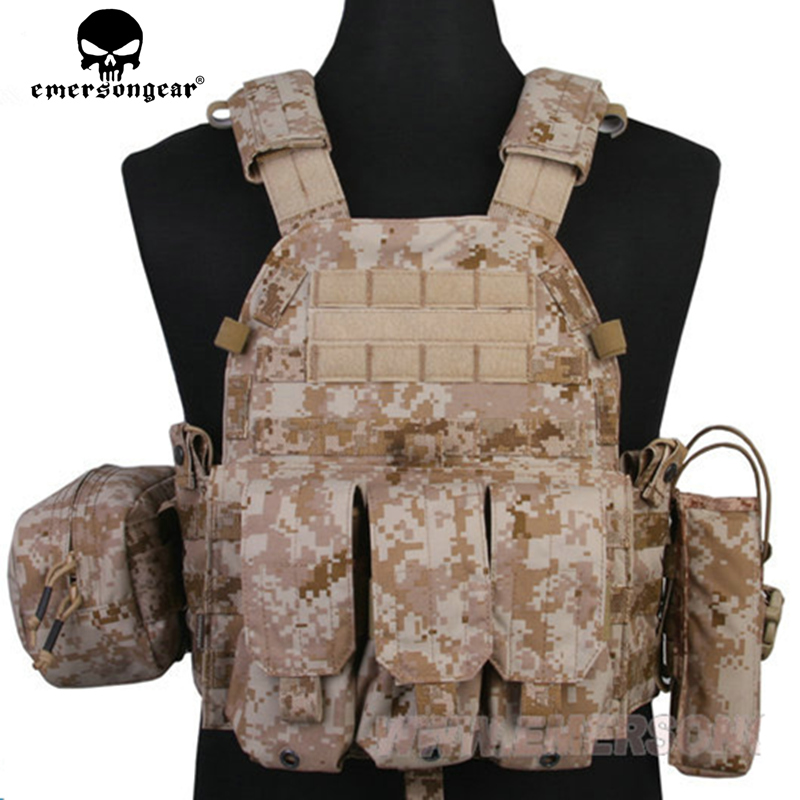 EMERSON GEAR LBT6094A Style Vest with pouches Airsoft Painball Army Army Combat Gear EM7440G AT / FG AOR1 AOR2 KH CB CB MR HLD