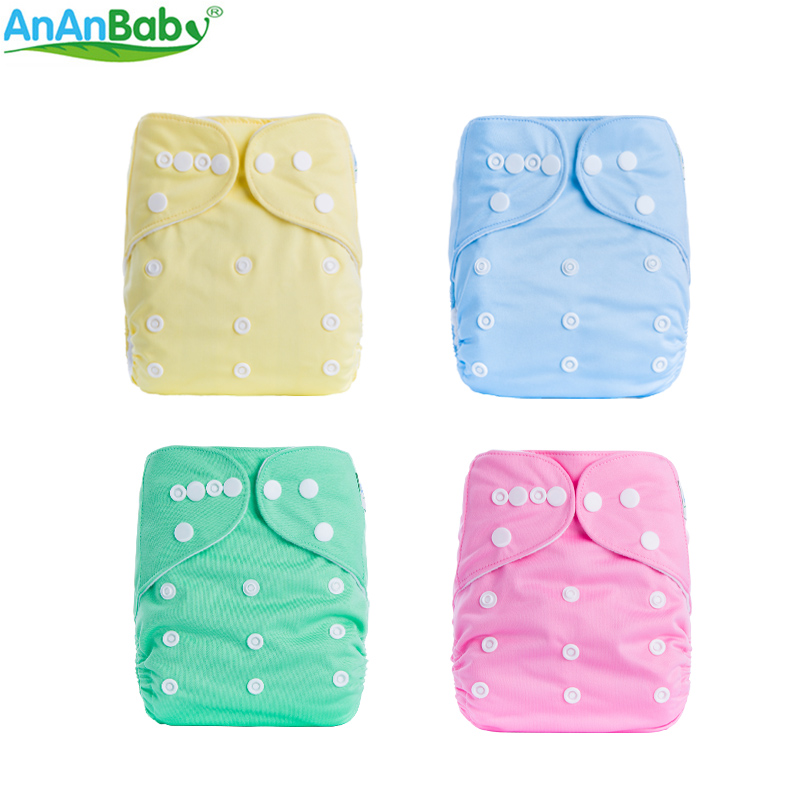 Cloth Diaper Cover For Baby Soild Color Reusable & Waterproof & Breathable Baby Washable Nappies Fit 3-15kg A Series