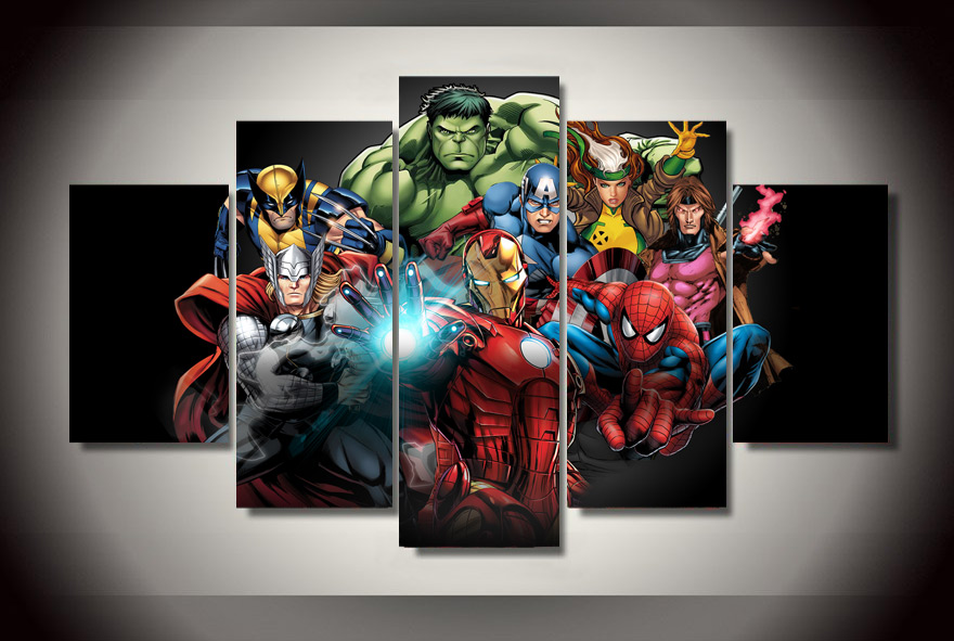 HD Printed Comics Avengers Painting Canvas Print Room Decor Print Poster Picture Canvas Unframed