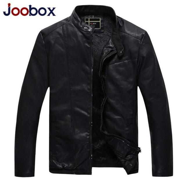 JOOBOX Новый мужская кожаная куртка плюс размер мотоцикла PU кожа замша шерсть лайнер пилот кожаная куртка мужская пальто (QHL110)