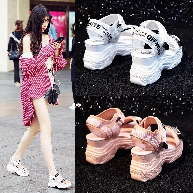 Best buy ) }}Dumoo 2018 Summer Women Sandals Shoes High Heel