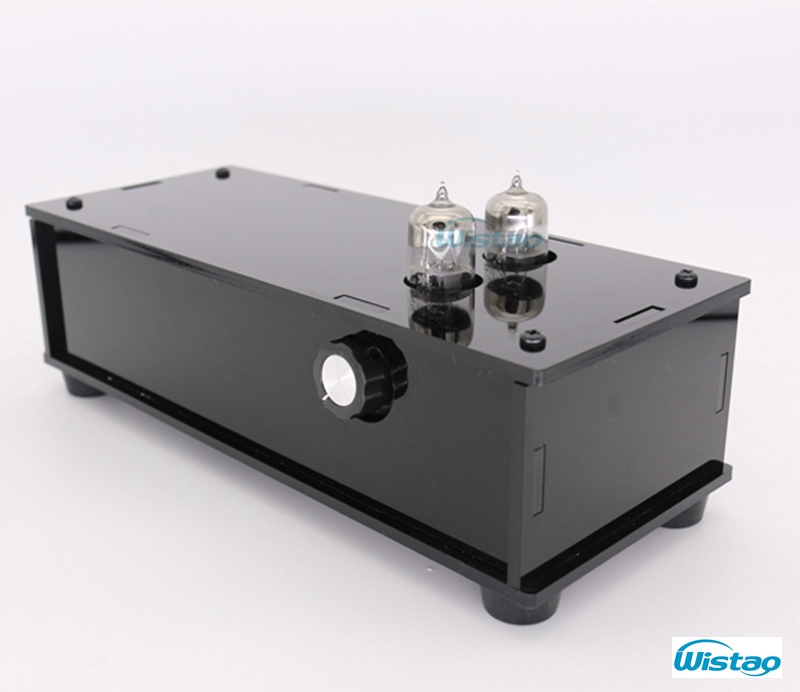Tube Preamplifier Matisse Circuit 2 x 6N3 PMMA Casing Black Piano Paint Musical Flavor 110/220V HIFI Audio Component adopted tiancoolkei x 10d 2 0 original circuit hifi 6n11 tube buffer audio signal tube preamplifier for pure post amplifier