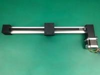 Synchronous belt linear slide XP 300mm stroke table guide rail slide timing belt linear slide table+ nema 23 stepping motor