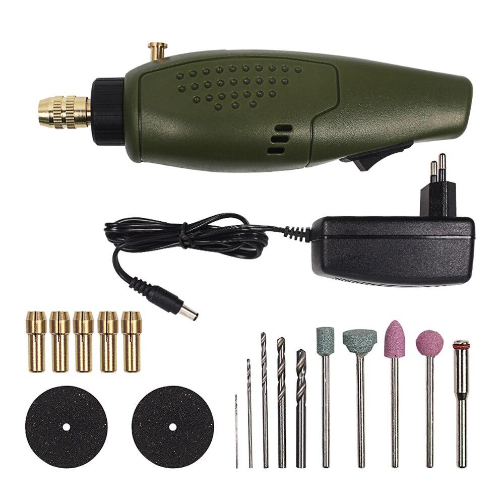 DYH-Mini acessórios furadeira elétrica conjunto 12V DC moedor ferramenta para polimento de moagem gravura de perfuração (plug UE)