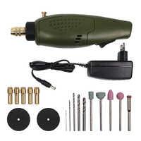Dyh-mini broca elétrica acessórios conjunto 12 v dc ferramenta moedor para moagem de polimento gravura perfuração (plugue da ue)