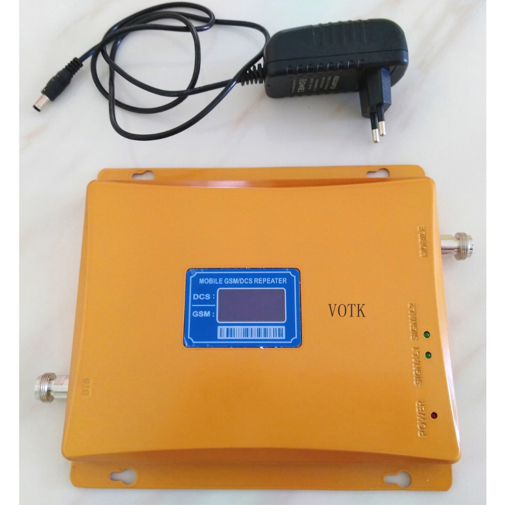 VOTK GSM 900 1800 Dual Band Cellphone Signal Amplifier GSM 900mhz DCS 1800mhz Signal Repeater Mobile SIGNAL BOOSTER