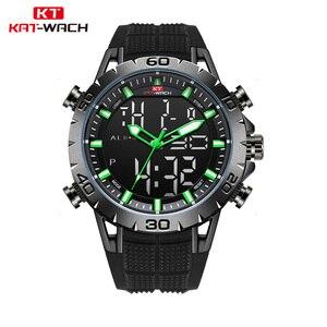 KAT-WACH luksusowej marki męskie zegarki sportowe wodoodporny cyfrowy zegarek led w stylu wojskowym mężczyźni moda elektronika zegarki na rękę Relojes