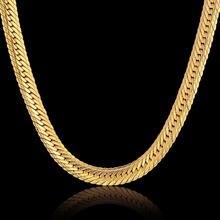 Хип хоп золотая цепочка для мужчин хип ожерелье 8 мм золотой