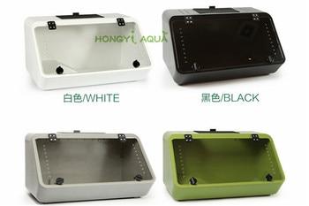 1 piece plastic reptile box turtle tank feeding box pet box turtle habitat reptile house amphibious white black gray green 1