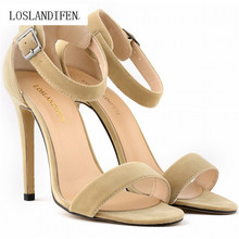 New Fashion Women Sexy Party Open Toe Thin Heels Pumps Bridal Flock High Heels Shoes Pumps10 colors Eur35-42