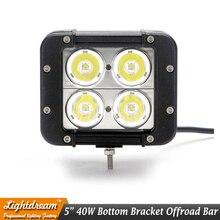 5 calowy 40 W LED Work Light Bar dla Ciężarówek Motocykla ATV 12 V LED Offroad Światło Bar 4X4 Światła LED Jazdy Światła Przeciwmgielne IP67 X1pc Samochodów lampa