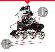 1 Juego de 10 clavos y tuercas + 2 llaves de 3,7 cm y 3,0 cm de tornillos de patín en línea pernos de patín zapatos de Skate desgaste uñas tornillo patines