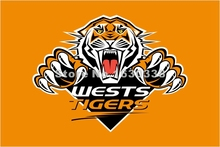 Wests Tigers Flag 3ft X 5ft National Rugby League NRL Banner Size 4 144* 96cm Flag