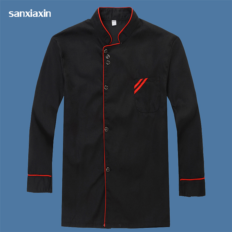 Sanxiaxin Unisex Hotel Uniforms Chef Jacket Woman Chef Coat Chef Clothes Chefs Sushi Uniform Long Sleeves Restaurant Uniform