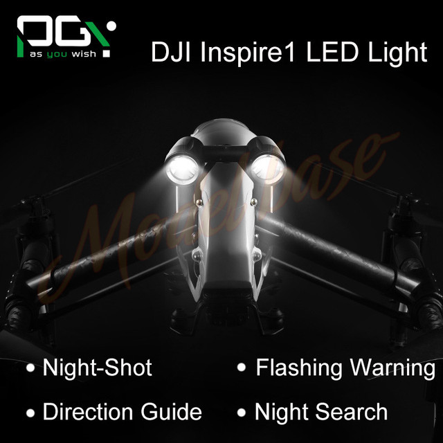 PGY inspire 1 Accessories headlamp Super Brigh LED light Searchlight Drone Flash Lights Warning drone FPV Quadcopter Kit