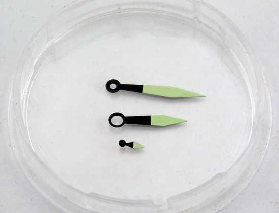 DEBERT manos luminosas verdes para eta 6497/6498, reloj de movimiento st36 para hombres P335