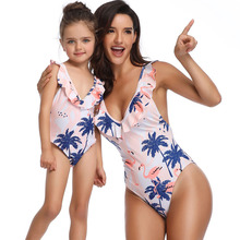 Swimwear women 2019 Swimsuit One-piece Parent-Child Bathing Suit mujer Swimming Wear for Mother and Kids cute