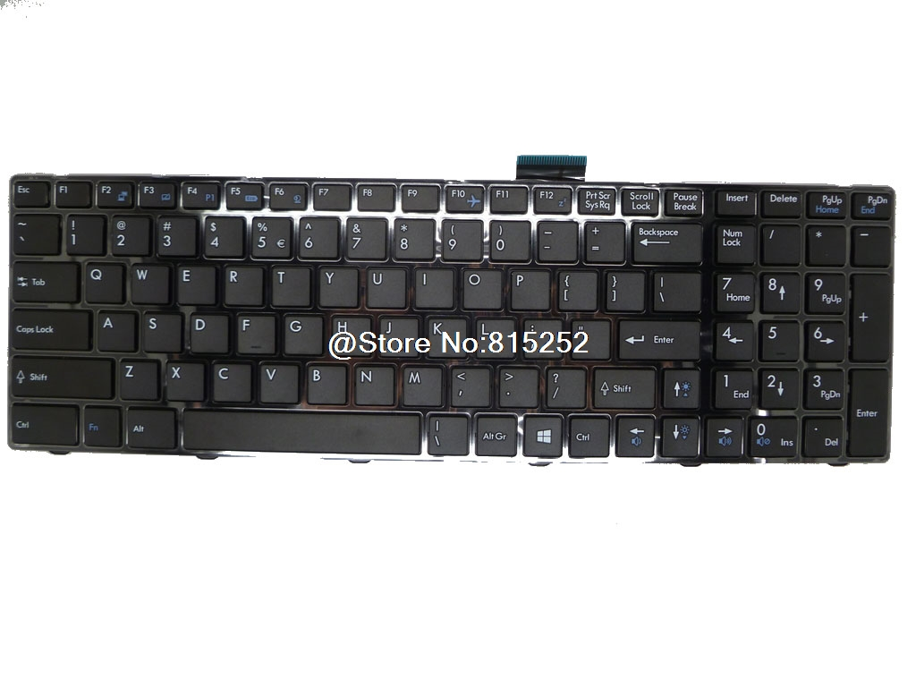 Laptop Keyboard For MSI GP60 2OD-026US 2OD-052US English 2OD-070US 2OD-038BE 2OD-068BE Belgium 2PE-023XTR Turkey 2PE-011CZ the new english for sony vpcsb18ga vpcsb18gg vpcsb18gh keyboard black silver laptop keyboard