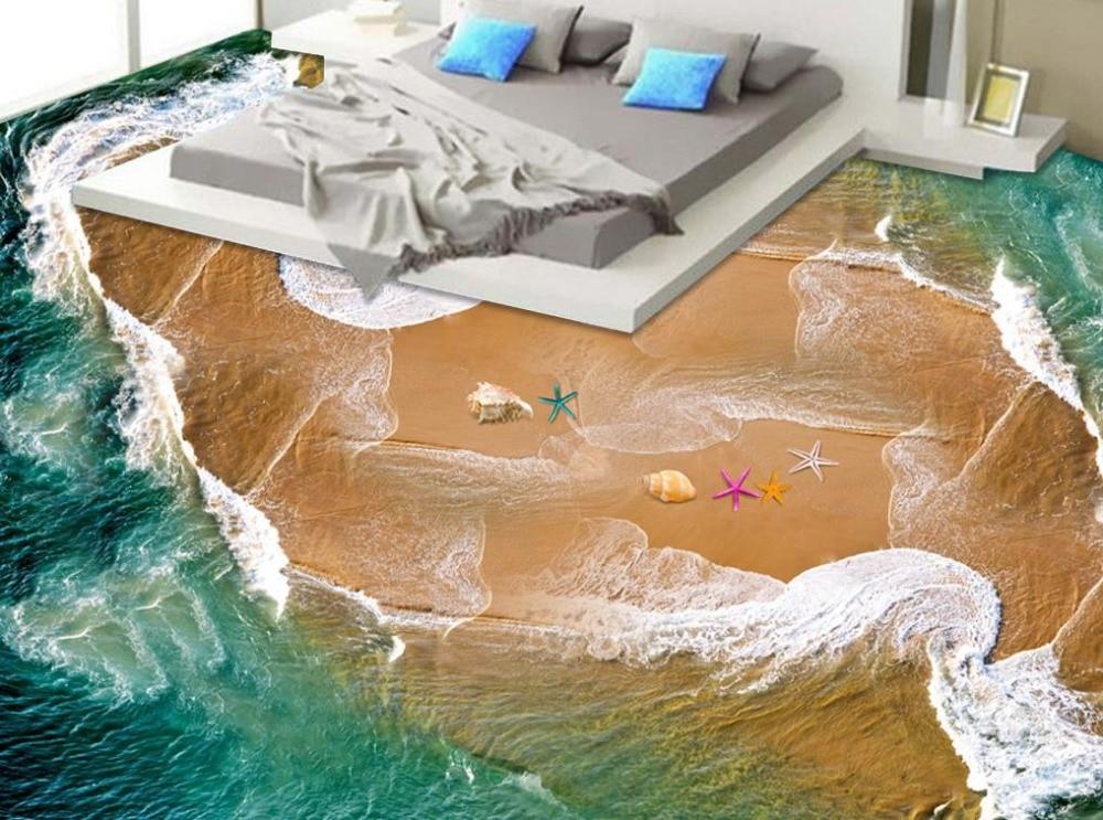 Kinderzimmer Bodenbelag | 3d Bodenbelag Foto Tapete Hochwertigen Strand Wellen Tapeten Fur