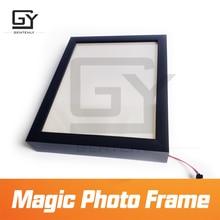 Magic photo frame escapar quarto jogo prop acionar os sensores para obter as pistas invisíveis versão atualizada do adesivo mágico prop
