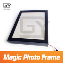 Magic photo frame escape room game prop trigger the sensors to get the invisible clues Updated version of magic sticker prop