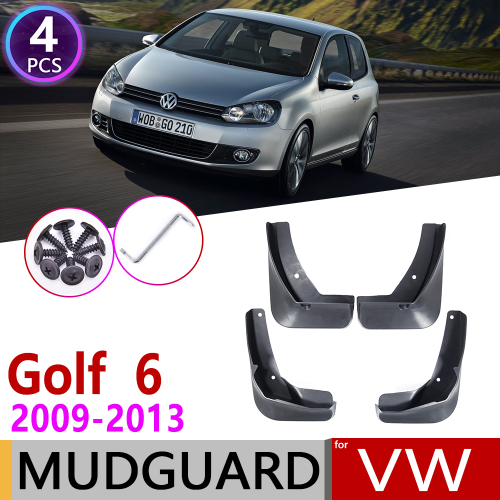 For Volkswagen VW Golf 6 Mk6 2009~2013 Hatch Car Mudflap Fender Mud Flaps Guard Splash Flap Mudguards Accessories 2010 2011 2012