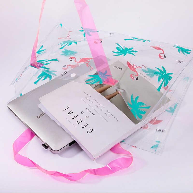 1 шт. прозрачный Фламинго косметичка ПВХ дорожный кейс для косметики женская сумка для хранения туалетных принадлежностей прозрачная сумка органайзер