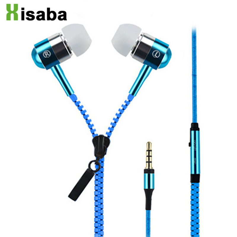50pcs Metal Zipper In-Ear Earphone With Microphone For Xiaomi htc iphone Mobile Phone Wired 3.5mm Stereo Bass Earbuds headset stereo 3 5mm in ear earphones high quality metal bass headset with microphone for mobile phone iphone xiaomi huawei